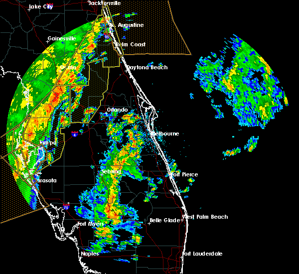 Radar Image for Severe Thunderstorms near Wekiwa Springs, FL at 4/19/2019 1:34 PM EDT