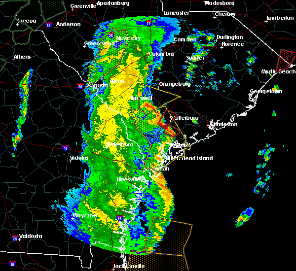 Radar Image for Severe Thunderstorms near Walterboro, SC at 4/19/2019 1:41 PM EDT