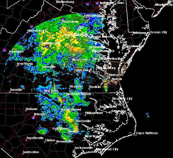 Radar Image for Severe Thunderstorms near Hanover, VA at 4/19/2019 1:41 PM EDT