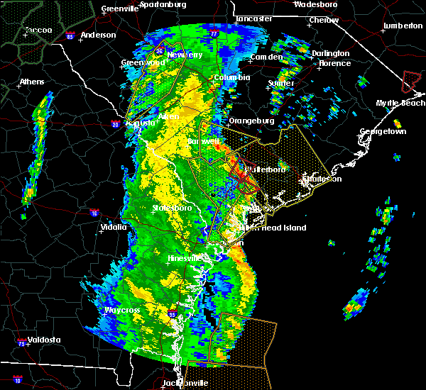 Radar Image for Severe Thunderstorms near Walterboro, SC at 4/19/2019 1:47 PM EDT