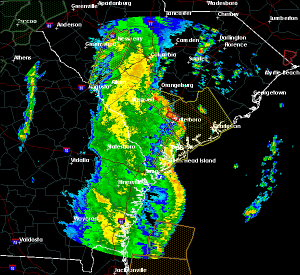 Radar Image for Severe Thunderstorms near Walterboro, SC at 4/19/2019 1:53 PM EDT