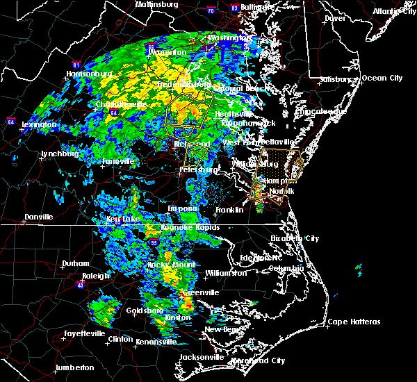Radar Image for Severe Thunderstorms near Hanover, VA at 4/19/2019 1:54 PM EDT