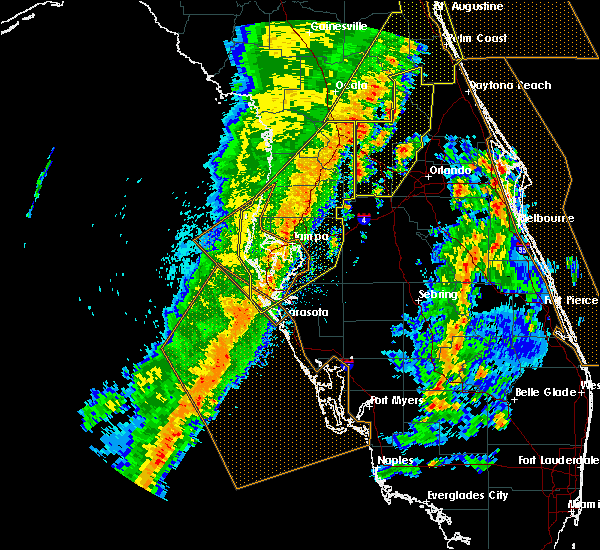 Radar Image for Severe Thunderstorms near Brandon, FL at 4/19/2019 1:56 PM EDT
