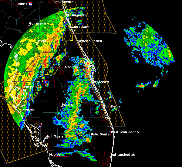 Radar Image for Severe Thunderstorms near Sorrento, FL at 4/19/2019 1:57 PM EDT
