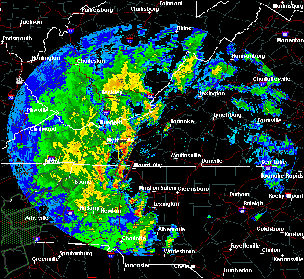 Radar Image for Severe Thunderstorms near Dobson, NC at 4/19/2019 2:00 PM EDT