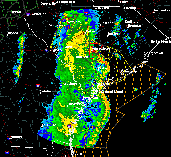 Radar Image for Severe Thunderstorms near Ravenel, SC at 4/19/2019 2:07 PM EDT