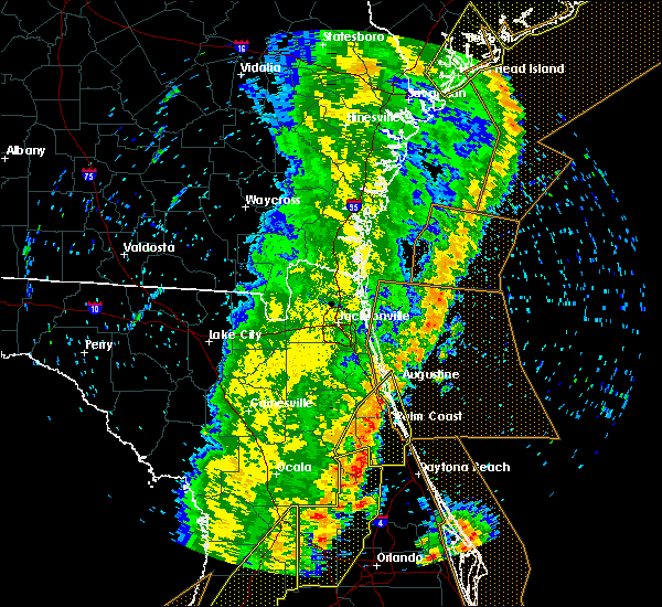 Radar Image for Severe Thunderstorms near Flagler Estates, FL at 4/19/2019 2:09 PM EDT