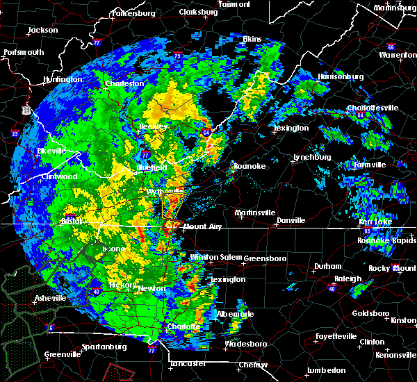 Radar Image for Severe Thunderstorms near Lowgap, NC at 4/19/2019 2:10 PM EDT