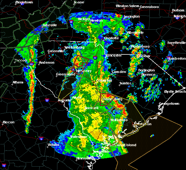 Radar Image for Severe Thunderstorms near Cameron, SC at 4/19/2019 2:19 PM EDT