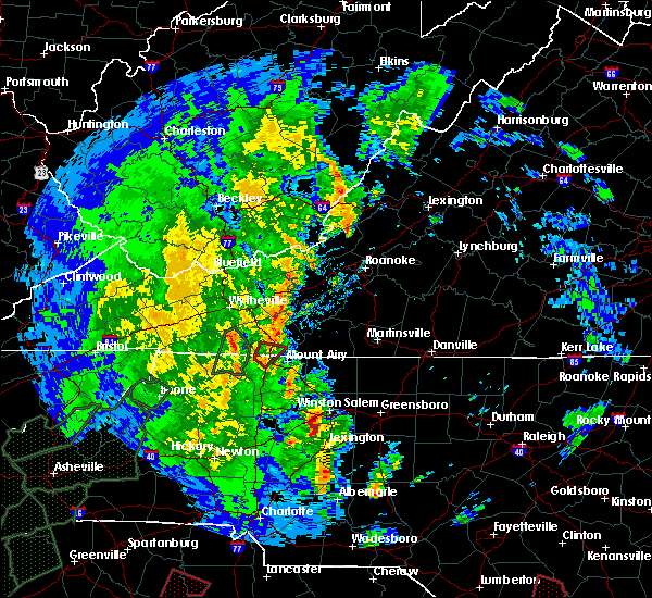 Radar Image for Severe Thunderstorms near Lowgap, NC at 4/19/2019 2:26 PM EDT