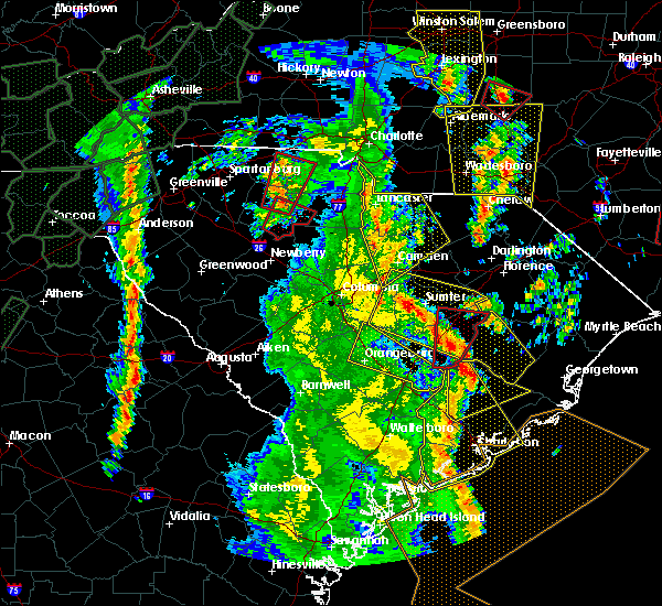 Radar Image for Severe Thunderstorms near Camden, SC at 4/19/2019 2:36 PM EDT