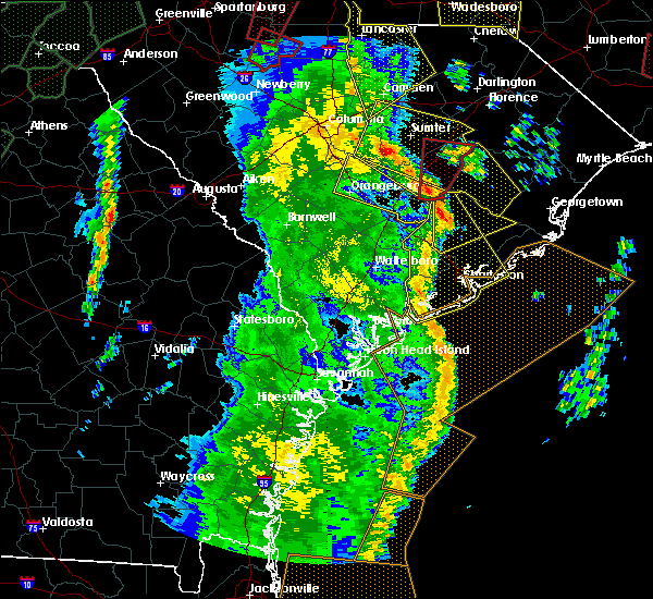 Radar Image for Severe Thunderstorms near Ravenel, SC at 4/19/2019 2:36 PM EDT