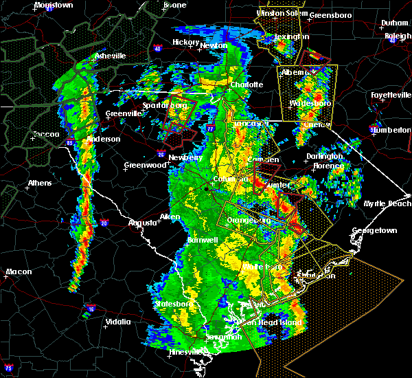 Radar Image for Severe Thunderstorms near Orangeburg, SC at 4/19/2019 2:43 PM EDT