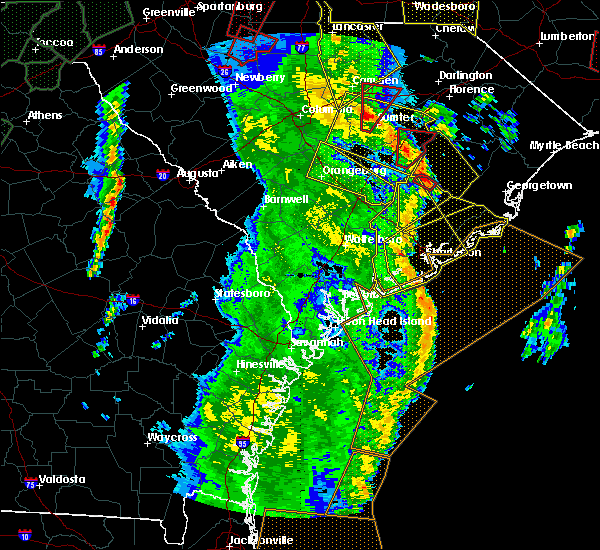 Radar Image for Severe Thunderstorms near Moncks Corner, SC at 4/19/2019 2:45 PM EDT