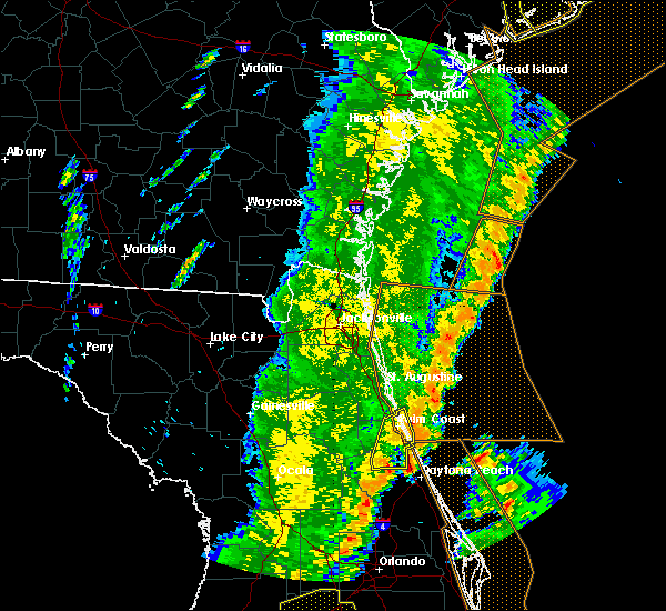 Radar Image for Severe Thunderstorms near Bunnell, FL at 4/19/2019 2:48 PM EDT