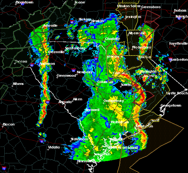 Radar Image for Severe Thunderstorms near Quinby, SC at 4/19/2019 3:05 PM EDT