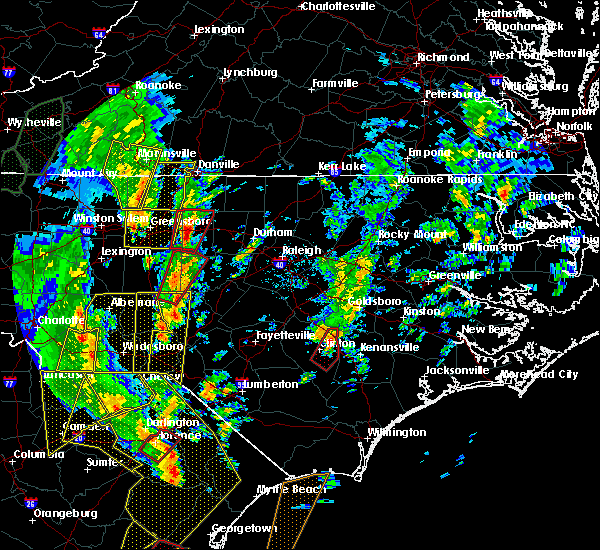 Radar Image for Severe Thunderstorms near Clinton, NC at 4/19/2019 3:24 PM EDT