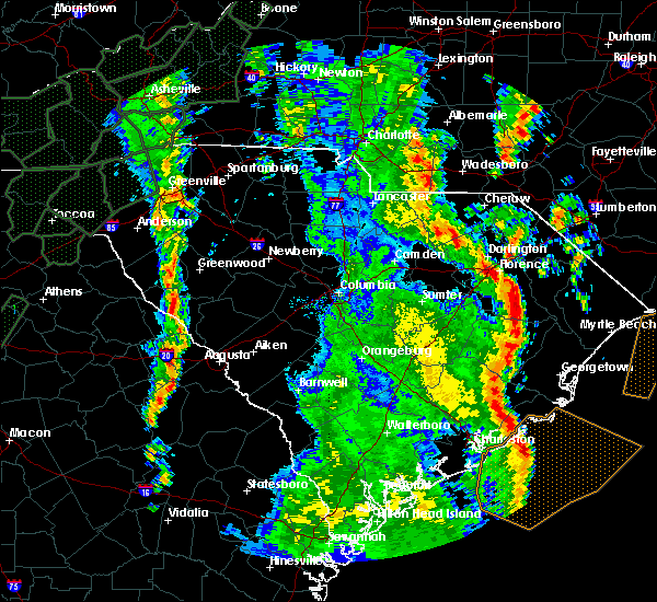 Radar Image for Severe Thunderstorms near Camden, SC at 4/19/2019 3:24 PM EDT