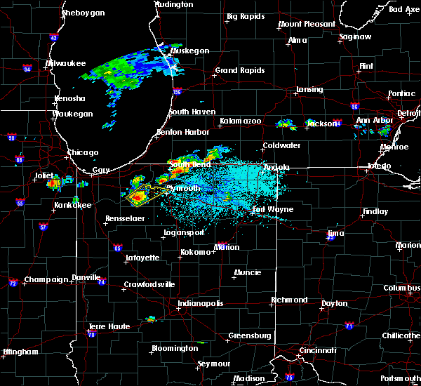 Radar Image for Severe Thunderstorms near Dunlap, IN at 6/11/2015 4:45 PM EDT