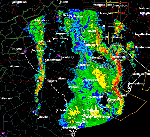 Radar Image for Severe Thunderstorms near Pageland, SC at 4/19/2019 3:27 PM EDT