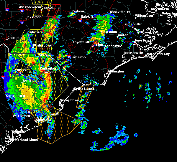 Radar Image for Severe Thunderstorms near Mount Pleasant, SC at 4/19/2019 3:31 PM EDT