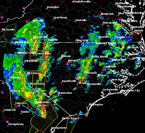 Radar Image for Severe Thunderstorms near Mount Olive, NC at 4/19/2019 3:34 PM EDT