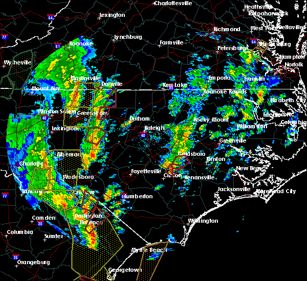 Radar Image for Severe Thunderstorms near Swepsonville, NC at 4/19/2019 3:37 PM EDT
