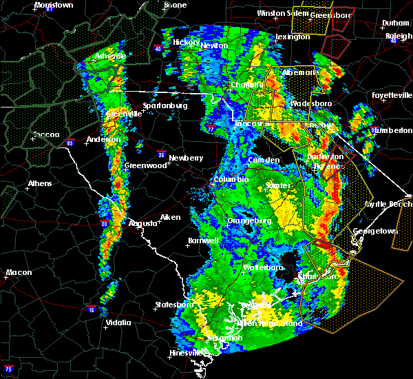 Radar Image for Severe Thunderstorms near Wingate, NC at 4/19/2019 3:40 PM EDT
