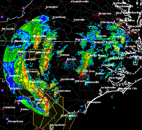 Radar Image for Severe Thunderstorms near Pinehurst, NC at 4/19/2019 3:50 PM EDT