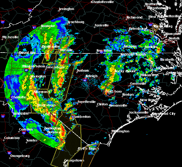 Radar Image for Severe Thunderstorms near Hope Mills, NC at 4/19/2019 3:56 PM EDT