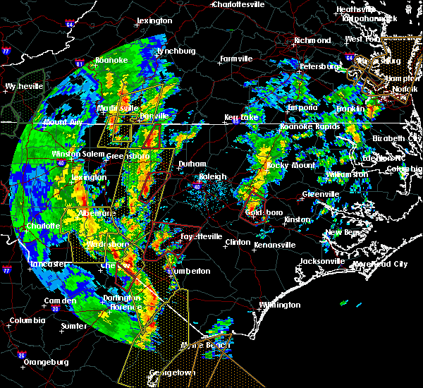 Radar Image for Severe Thunderstorms near Thomasville, NC at 4/19/2019 4:03 PM EDT