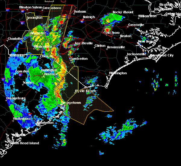 Radar Image for Severe Thunderstorms near Myrtle Beach, SC at 4/19/2019 4:06 PM EDT