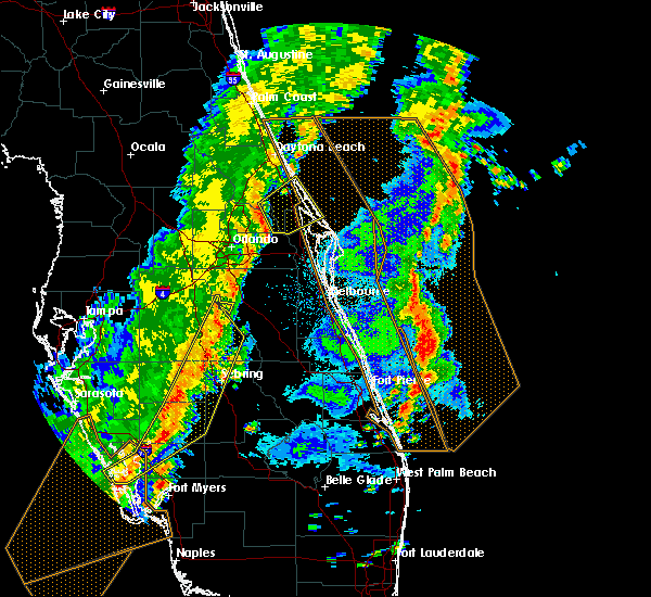 Radar Image for Severe Thunderstorms near Mims, FL at 4/19/2019 4:15 PM EDT