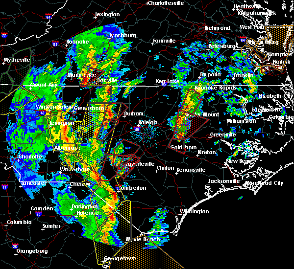 Radar Image for Severe Thunderstorms near Wilson, NC at 4/19/2019 4:15 PM EDT