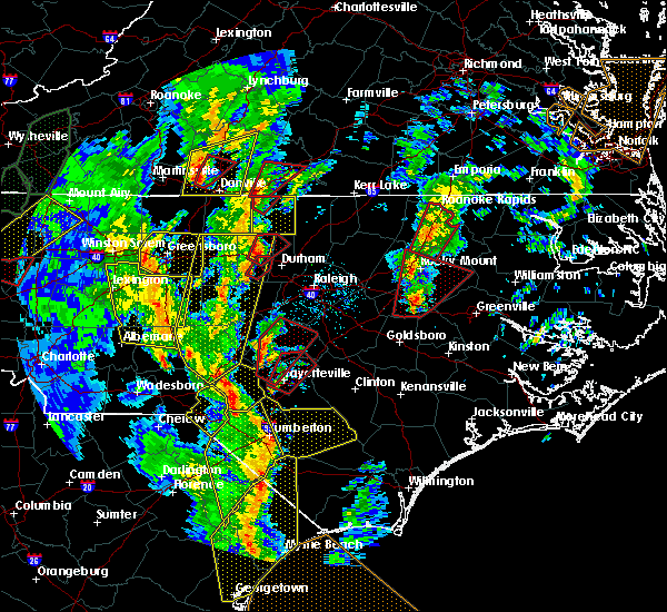 Radar Image for Severe Thunderstorms near Falcon, NC at 4/19/2019 4:25 PM EDT