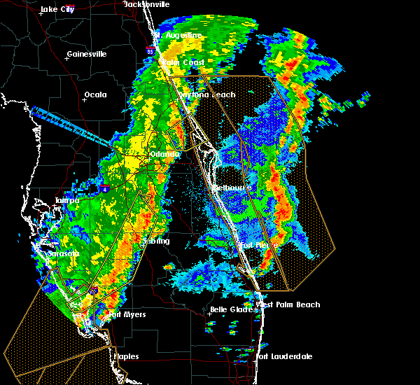 Radar Image for Severe Thunderstorms near Mims, FL at 4/19/2019 4:28 PM EDT