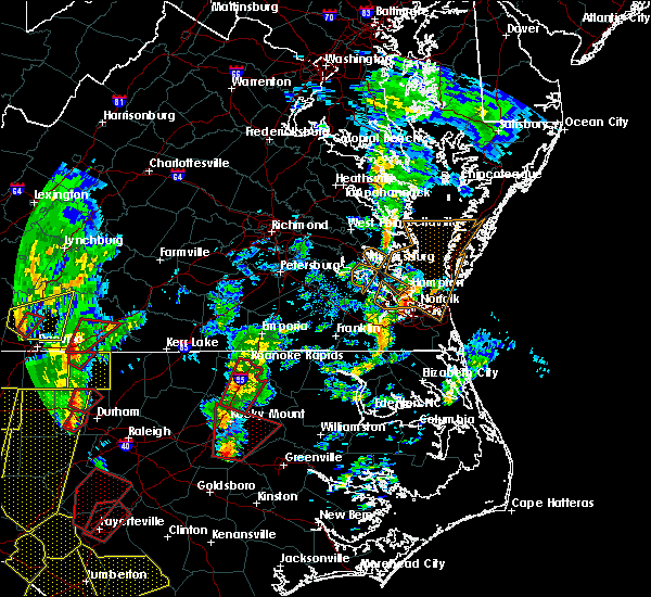 Radar Image for Severe Thunderstorms near Portsmouth, VA at 4/19/2019 4:29 PM EDT