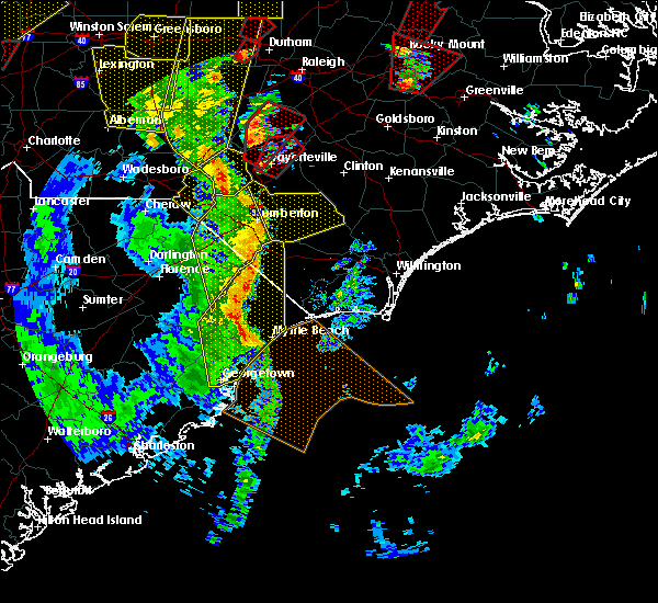 Radar Image for Severe Thunderstorms near Myrtle Beach, SC at 4/19/2019 4:32 PM EDT