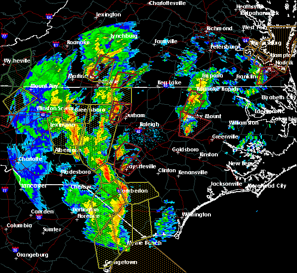 Radar Image for Severe Thunderstorms near Sanford, NC at 4/19/2019 4:35 PM EDT