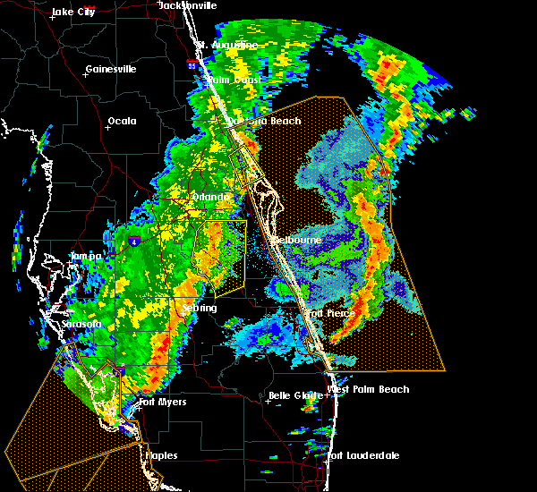 Radar Image for Severe Thunderstorms near Mims, FL at 4/19/2019 4:44 PM EDT