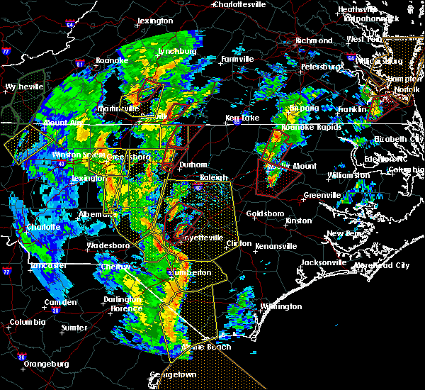 Radar Image for Severe Thunderstorms near Princeville, NC at 4/19/2019 4:45 PM EDT