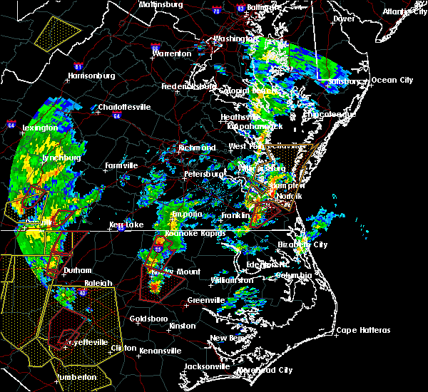 Radar Image for Severe Thunderstorms near Portsmouth, VA at 4/19/2019 4:45 PM EDT