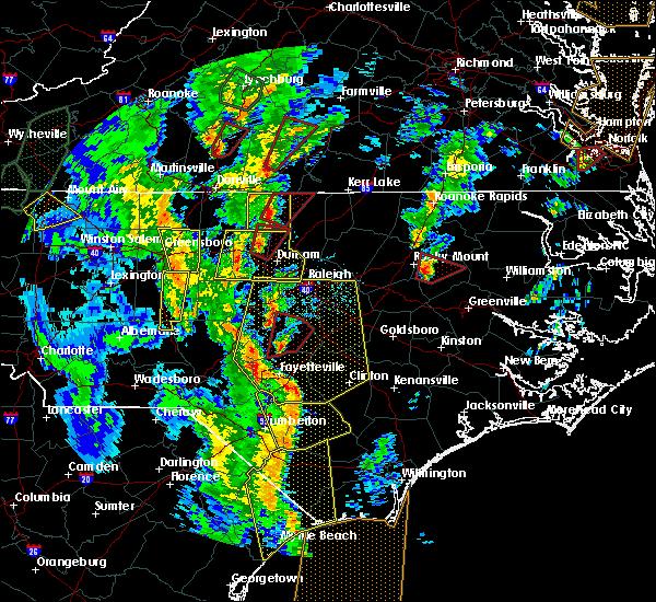 Radar Image for Severe Thunderstorms near Virgilina, VA at 4/19/2019 4:51 PM EDT