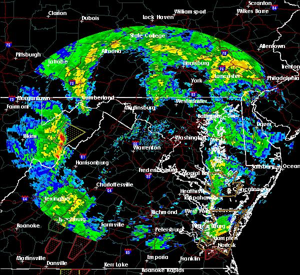 Radar Image for Severe Thunderstorms near Basye, VA at 4/19/2019 4:58 PM EDT