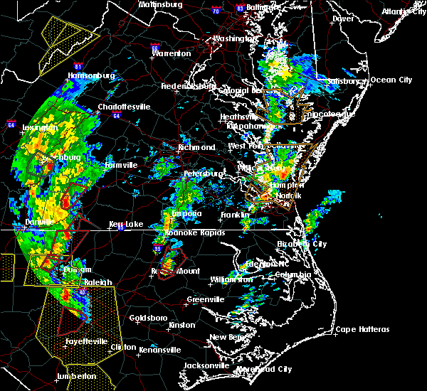 Radar Image for Severe Thunderstorms near Halifax, NC at 4/19/2019 5:05 PM EDT