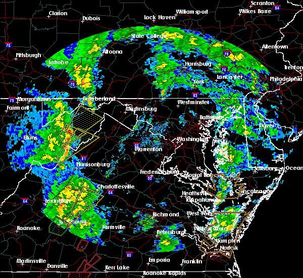 Radar Image for Severe Thunderstorms near Basye, VA at 4/19/2019 5:17 PM EDT