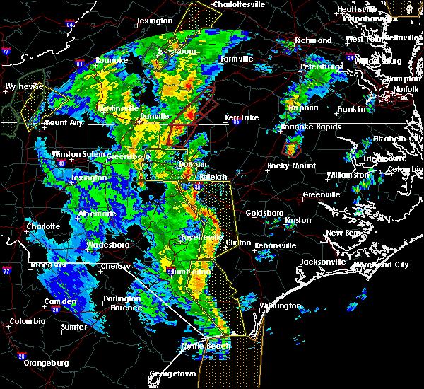 Radar Image for Severe Thunderstorms near Virgilina, VA at 4/19/2019 5:31 PM EDT