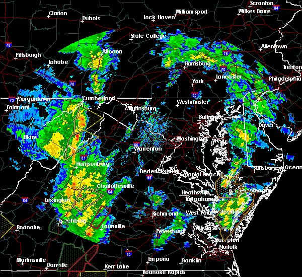 Radar Image for Severe Thunderstorms near Basye, VA at 4/19/2019 5:44 PM EDT