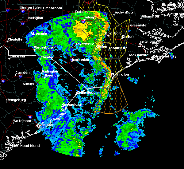 Radar Image for Severe Thunderstorms near Leland, NC at 4/19/2019 5:56 PM EDT