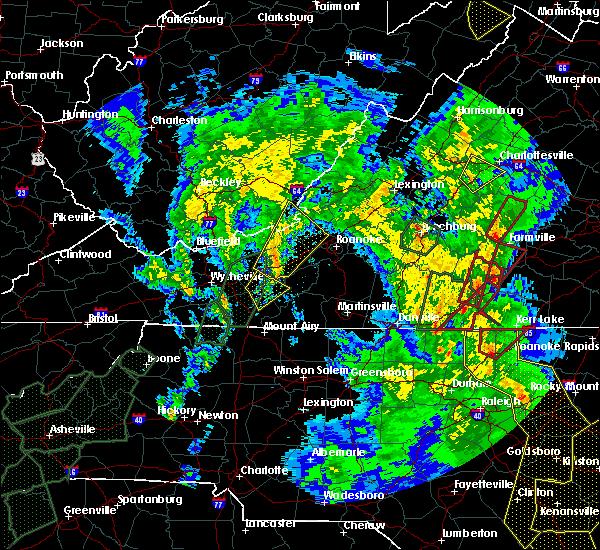 Radar Image for Severe Thunderstorms near Charlotte Court House, VA at 4/19/2019 5:56 PM EDT